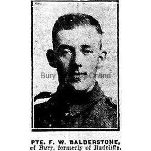 Balderstone, Private Frederick William
