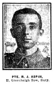 Aspin, Private Richard James